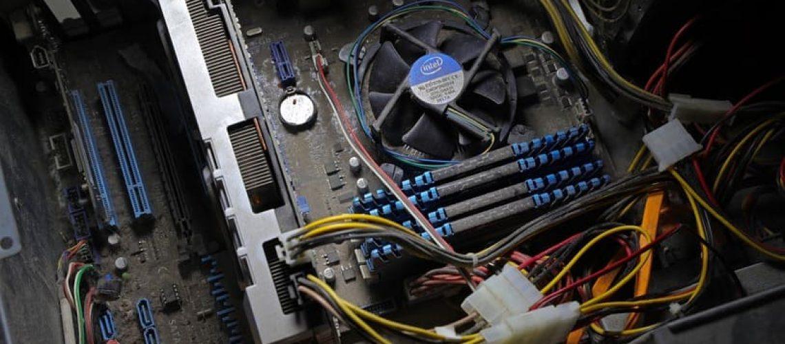 Pulire PC Polvere
